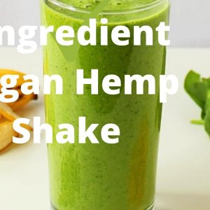 2 Ingredient Hemp Shake Vegan Non GMO